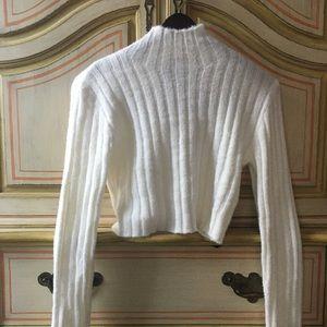 White turtle neck Cotton Candy LA sweater